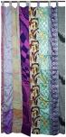 Vorhang (1 Stk.) Gardine aus Patchwork Sareestoff, Unikat - patchwork bunt