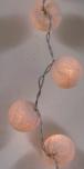 Stoff Ball Lichterkette LED Kugel Lampion Lichterkette - weiß