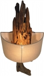Wandlampe / Wandleuchte Molukka - in Bali handgefertigt aus Naturmaterial, Treibholz, Baumwolle - Modell Molukka