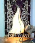 Tischlampe Zipfel-Rinde 50-120 cm, Kokosfaser,