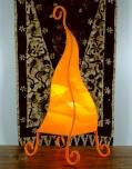Tischlampe Zipfel 70 cm - in Bali handgemachte exotische Stimmungsleuchte, Baumwolle