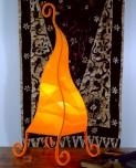 Tischlampe Zipfel 50 cm - in Bali handgemachte exotische Stimmungsleuchte, Baumwolle