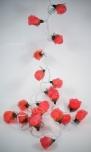 Blüten Lichterkette 20 Stk. Rose - hellrot