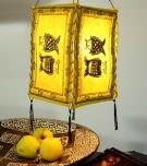 Lokta Papier Hänge-Lampenschirm, Deckenleuchte aus handgeschöpftem Papier - Fisch gelb