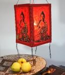 Lokta Papier Hänge-Lampenschirm, Deckenleuchte aus handgeschöpftem Papier - Buddha