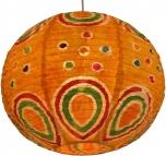 Corona round funny 35 cm, runder lokta Papierlampenschirm