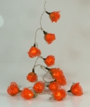 Bast Rosen LED Lichterkette 20 Stk.- orange