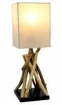 Tischleuchte / Tischlampe Pamplona,Treibholz, Baumwolle, in Bali handgemacht aus Naturmaterial - Modell Pamplona
