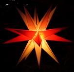 Melchior Outdoor II zweifarbig rot/weiß, sehr stabiler 3D Außenstern Ø 60 cm, mit 20 Spitzen, inkl. 4 m Außenkabel - Melchior weiß/rot