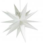 3D Außenstern Ø 55 cm, Weihnachtsstern, Faltstern Kaspar mit 18 Spitzen incl. 7 m Kabel & LED Leuchtmittel - Kaspar weiß