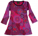 Bestickte Mädchen Tunika, Ethno Minikleid, Kinderkleid - pink