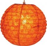 Runder Reispapier Lampenschirm, Hängelampe Corona Ø 30 cm