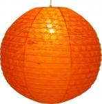 Runder Lokta Papierlampenschirm, Hängelampe Corona Ø 50 cm