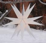 Melchior outdoor II weiß, Außenstern Ø 60 cm, mit 20 Spitzen, inkl. 4 m Außenkabel