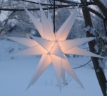 LED Melchior Outdoor II Weiß, 3D Außenstern Ø 60 cm, mit 20 Spitzen, inkl. 4 m Außenkabel
