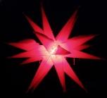 LED - Melchior Outdoor II Rot, 3D Außenstern Ø 60 cm, mit 20 Spitzen, inkl. 4 m Außenkabel