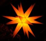 LED Melchior Outdoor II Gelb, 3D Außenstern Ø 60 cm, mit 20 Spitzen, inkl. 4 m Außenkabel