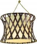 Deckenlampe / Deckenleuchte, Rarotonga - in Bali handgemacht aus Naturmaterial, Holz, Baumwolle