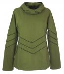 Elfensweatshirt, Hoody mit langer Kapuze - olive