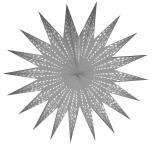 Faltbarer Advents Leucht Papierstern, Weihnachtsstern Aristea - weiß