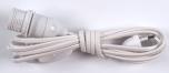 Steckerleitung, Zuleitung, Lampen Kabel 2 m, mit Schalter und Fassung - lose bzw gebündelt