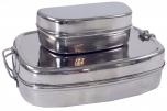 Stabile Edelstahl Brotdose, Frühstücksbox, eco friendly metall Lunchbox, Vesperbox - 2èr Set B