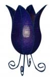 Tischlampe/Tischleuchte Tulip Pearls - in Bali handgemachte exotische Stimmungsleuchte, Glasperlen