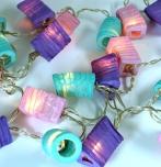 LED Lichterkette Lampions - mix/lila