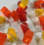LED Lichterkette Lampions - mix orange