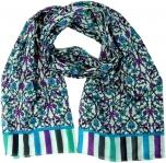 Leichter Schal, buntes Baumwolltuch aus Indien - flieder