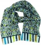 Leichter Schal, buntes Baumwolltuch aus Indien - lemon