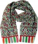 Leichter Schal, buntes Baumwolltuch aus Indien - rot