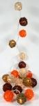Rattan Ball LED Kugel Lampion Lichterkette - Sommer Farbe