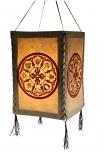 Lokta Papier Hänge-Lampenschirm, Deckenleuchte aus handgeschöpftem Papier - Mandala