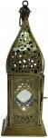 orientalische Messing/Glas Laterne in marrokanischem Design, Windlicht