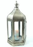 Orientalische Metall/Glas Laterne in marrokanischem Design, Windlicht