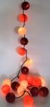 Stoff Ball Lichterkette LED Kugel Lampion Lichterkette - Sommer Farbe