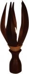 Palmenblatt Lotus Tischlampe / Tischleuchte, in Bali handgemacht aus Naturmaterial, Palmholz - Modell Palmera 3