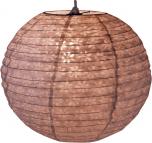 Runder Lokta Papierlampenschirm, Hängelampe Corona Ø 30 cm