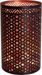 runde Metall Windlicht Leuchte, passend für Teelicht Kerzen oder als Deckenlampe verwendbar