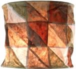 runde Papier Hängelampe, Lokta Papierlampenschirm Annapurna, handgeschöpftes Papier -earthground