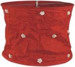 runde Papier Hängelampe, Lokta Papierlampenschirm Annapurna, handgeschöpftes Papier - rot