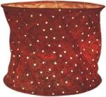 runde Papier Hängelampe, Lokta Papierlampenschirm Annapurna, handgeschöpftes Papier - weinrot