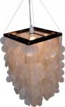 Deckenlampe / Deckenleuchte Sabah, Muschelleuchte aus hunderten Capiz / Perlmutt Plättchen