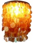 Deckenlampe / Deckenleuchte Samoa, Muschelleuchte aus hunderten Capiz, Perlmutt-Plättchen