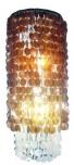 Deckenlampe / Deckenleuchte Samoa long, Muschelleuchte aus hunderten Capiz / Perlmutt Plättchen