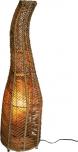 Stehlampe / Stehleuchte `Toledos 90-150 cm in Bali handgemacht aus Naturmaterial, Rattan,