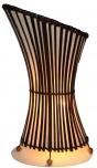 Stoff-Bambuslampe `Mehendina`, Bambus, Baumwolle