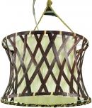 Deckenlampe / Deckenleuchte, Deckenlampe Rarotonga - in Bali handgemacht aus Naturmaterial, Holz, Baumwolle