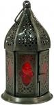 orientalische Metall/Glas Laterne in marrokanischem Design, Windlicht in 5 Farben
